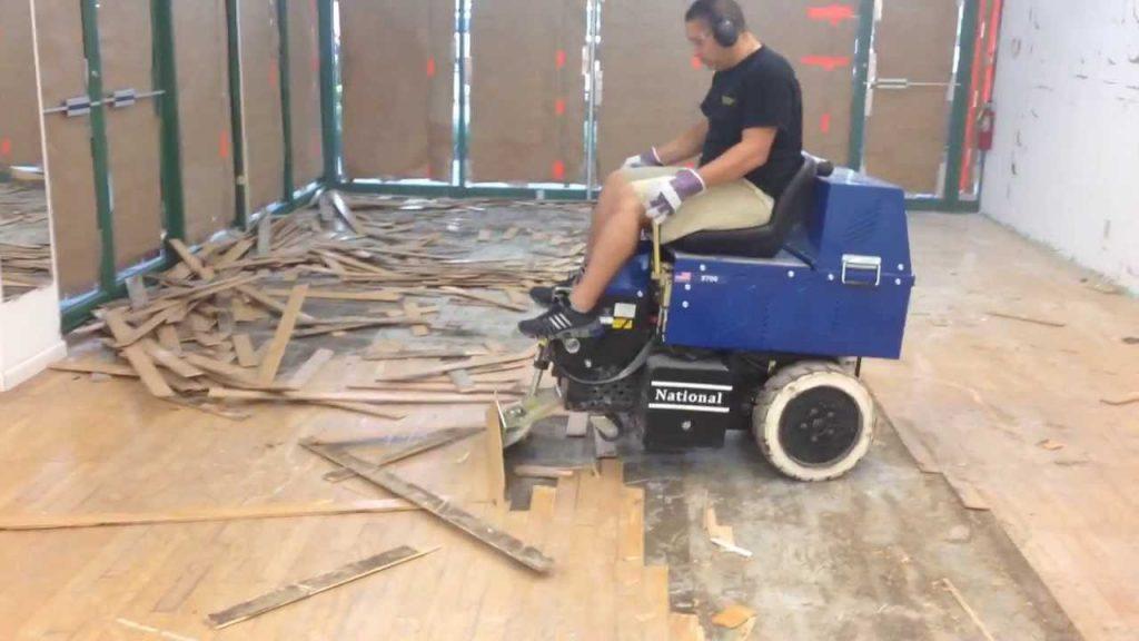 hardwood flooring removal