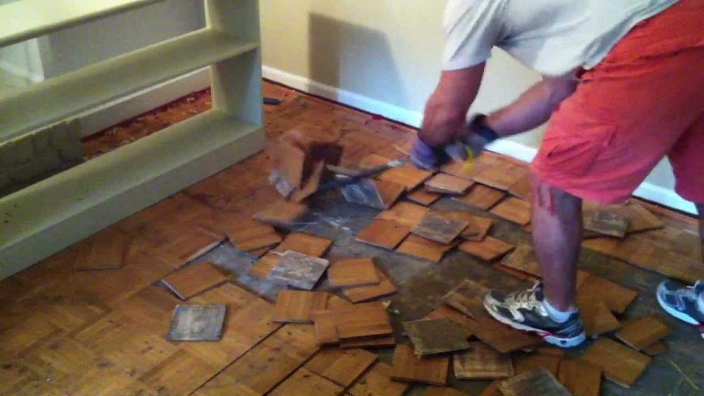 wooden floor removal