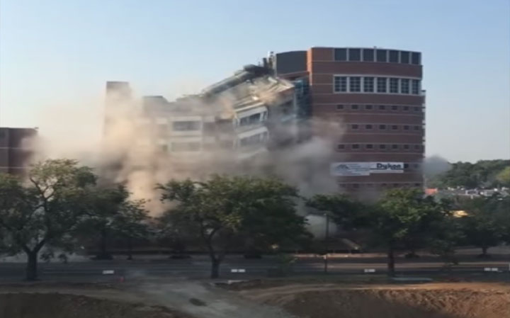 building implosion demolition