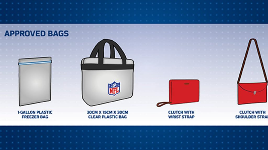 rules for bags for NFL games