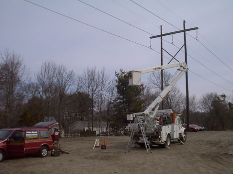 Dielectric Testing Safety Training in bucket truck